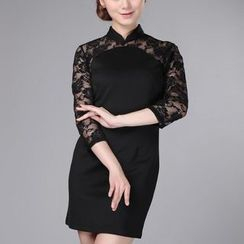 Veiltail - Lace-Panel Qipao