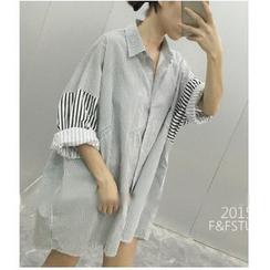 Oaksa - Striped Shirt Dress