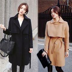 伊之恋 - 长款羊毛大衣