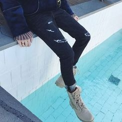 ZZP HOMME - Ripped Skinny Jeans