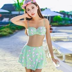 Vicki Vicki - Set: Print Bikini + Cover + Skirt