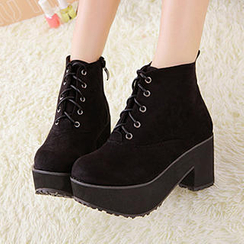 Mancienne - Platform Lace-Up Ankle Boots