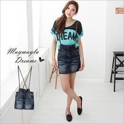 Maymaylu Dreams - Washed Denim Jumper Skirt