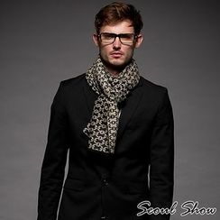 Seoul Show - Contrast Quilted Plaid Scarf