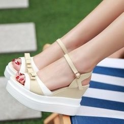 TULASI - Bow Wedge Sandals