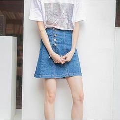 MATO - A-line Denim Skirt