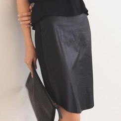 SO Central - Faux Leather Skirt