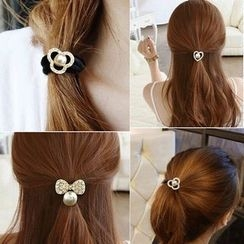 Gold Beam - Faux Pearl Hair Tie
