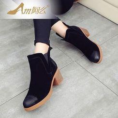Amenx - Block Heel Ankle Boots