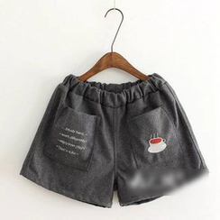 flaneur - Embroidered Woolen Shorts