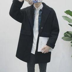 Arthur Look - Detachable Hood Snap Button Coat