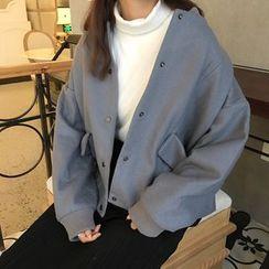 MePanda - Plain Woolen Jacket