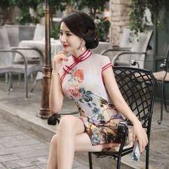 Montebelle - Floral Print Cheongsam