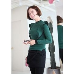 Lemite - Wool Blend Ruffled Knit Top