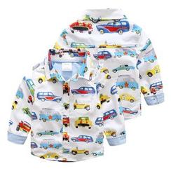 Seashells Kids - Kids Car Print Shirt