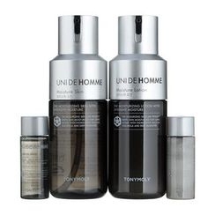Tony Moly - Unide Homme Moisture Skincare Set: Skin 150ml +Lotion 150ml + Skin 20ml + Lotion 20ml