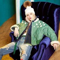 ELF SACK - Fleece-Trim Quilted Jacket