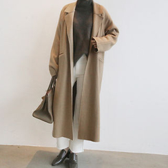 NANING9 - Wool Blend Open-Front Coat