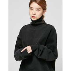 FROMBEGINNING - Turtle-Neck Oversized Sweatshirt
