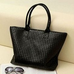 Yellowtail - Faux Leather Woven Tote