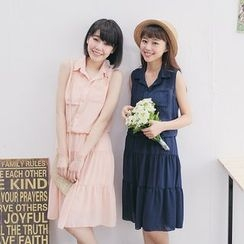 Tokyo Fashion - Sleeveless Shirtdress