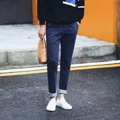 MEING - 純色修身牛仔褲