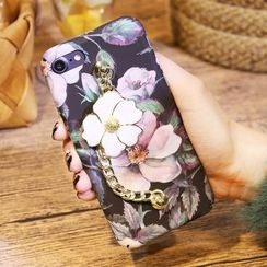 Sea Girl - Flower Print Mobile Case with Chain Strap - Apple iPhone 6 / 6 Plus / 7 / 7 Plus