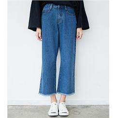 HazyDazy - Wide Leg Cropped Jeans