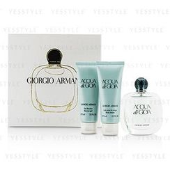 Giorgio Armani 乔治亚曼尼 - Acqua Di Gioia Coffret: Eau De Parfum Spray 50ml/1.7oz + Body Lotion 75ml/2.5oz + Shower Gel 75ml/2.5oz