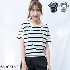 RingBear - Short Sleeve Striped Tee
