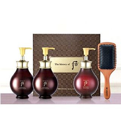 The History of Whoo 后 - WhooSpa Hair Special Set: Essence Shampoo 350ml + 350ml + Rinse 220ml + Luxury Hair Brush 1pc