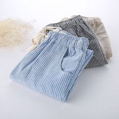 Lina Cota - Pinstriped Drawstring Pants