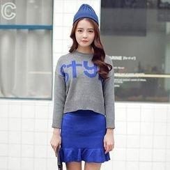 Hanee - Set: Lettering Sweater + Skirt
