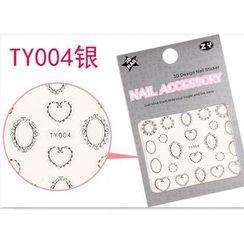 Benlyz - 3D Nail Sticker (TY-4S)