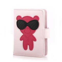 MILESI - Genuine Leather Applique Card Holder