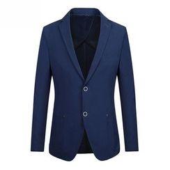 RUYA - Plain Buttoned Blazer
