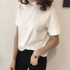 Little V - Short-Sleeve Plain T-Shirt
