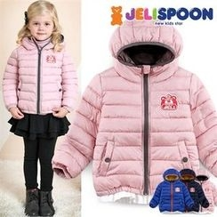 JELISPOON - Kids Hooded Padded Zip-Up Jacket