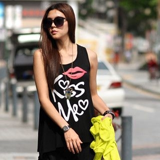 59 Seconds - 'Kiss Me' Printed Tank Top