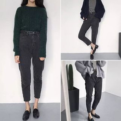 CosmoCorner - High Waist Cropped Jeans