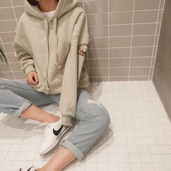 NANING9 - Drawstrign Hooded Pullover