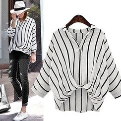 Fashion Street - Striped Dip Back Shirt