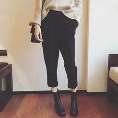 MOODGIRL - Cropped Baggy Pants