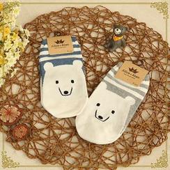 Fairyland - Animal Stripe No-show Socks