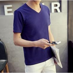 Consto - V-neck Short-Sleeve T-shirt