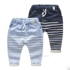 貝殼童裝 - 兒童條紋哈倫褲