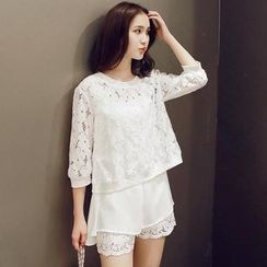 Sunny House - Lace Top with Tank Top