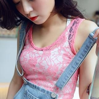 OrangeBear - Lace Long Tank Top