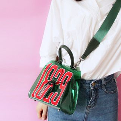 Bags 'n Sacks - Number Print Transparent Crossbody Bag