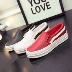EUNICE - Faux-Leather Slip-Ons